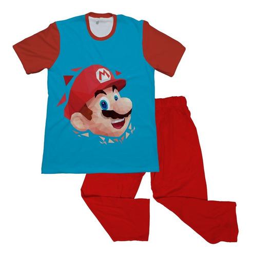 Pijama Niño Personalizada Mario Bros