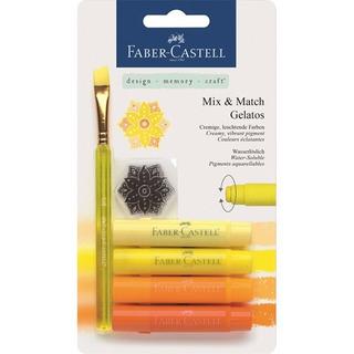 Crayon Acuarelable Gelato Faber Castell Set Amarillos