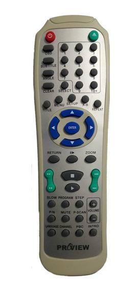 Cr-2176 Controle Remoto P/ Dvd Proview Dvp-868 Original