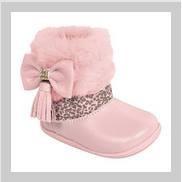 Bota Infantil Baby Rosa Onça Menina Confortável Sapato