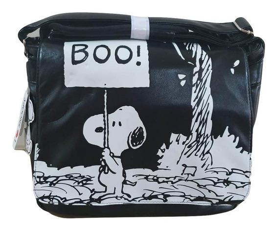 Bolso Cartera Morral Snoopy En Cuero Sintetico Excelente