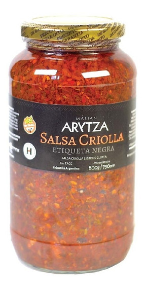 Salsa Criolla Gourmet Arytza 800g - 100% Natural - Sin Tacc