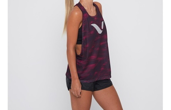 Musculosa Reves Tank Top Play W Purple Brush -