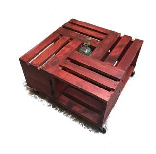 Mesa De Centro Minimalista Vintage Color Caoba
