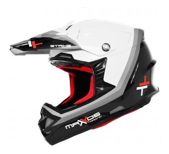 Capacete Mattos Racing Mx Pro Strike Branco