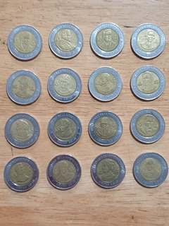 Lote 16 Monedas 5 Cinco Pesos Bicentenario De Independencia