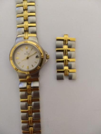 Relógio De Dois Tons Bulova Feminino 98m36