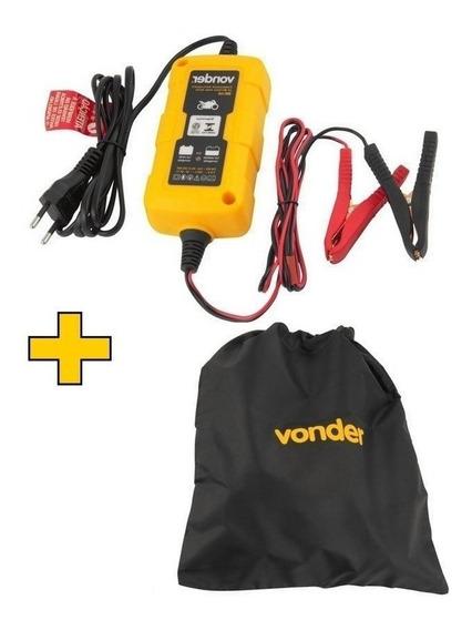 Carregador Bateria Moto Vonder 12v Inteligente Cib003 Bivolt