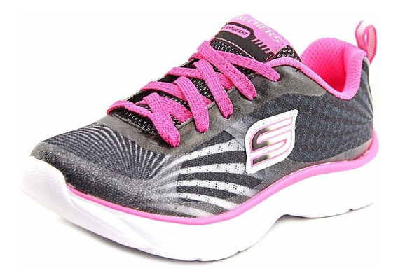 Tenis Skechers Girl Bright Time Youth 80950l/bkwp Originales