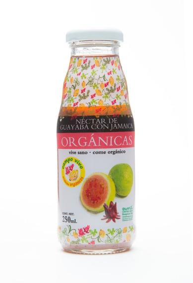 Néctar De Guayaba Y Jamaica Organico Campo Vivo 250ml