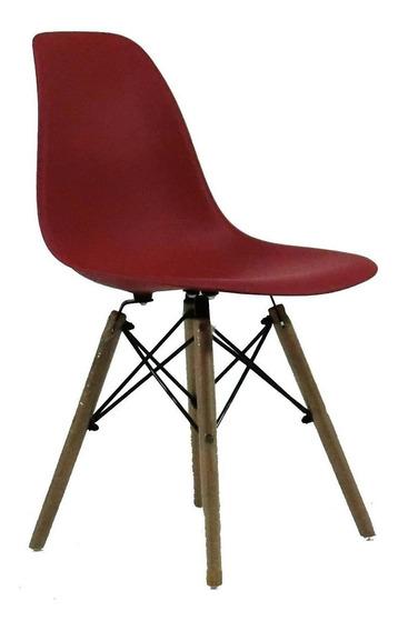 Cadeira Byartdesign Charles Eames Dkr Wood Eames Bordô