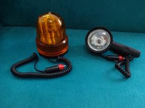 Kit Giroflex Amarelo Magnético + Farol De Socorro 12v Usados