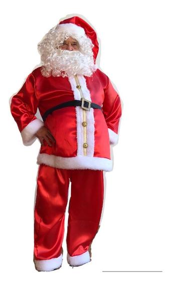 Disfraz Papa Noel Premium Barba Y Peluca Importadas Navidad