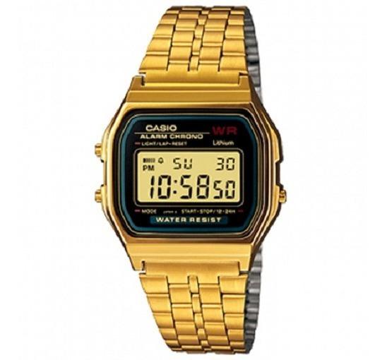 Relógio Casio Unissex Vintage Dourado Digital A159wgea-1df