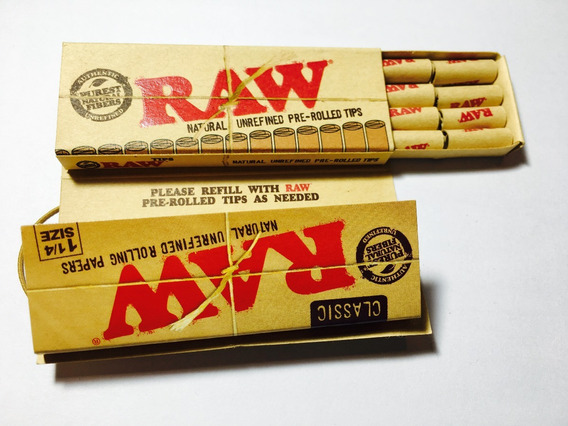 Raw Connoisseur + Pre Rolled Tips Raw Nuevos Papel + Filtros