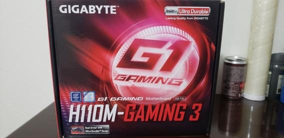 Placa Mãe 6ª E 7ª Ger Gigabyte Ga-h110m-gaming3 Ddr4 Lga1151