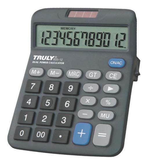 Calculadora De Mesa 12 Digitos Truly 833-12