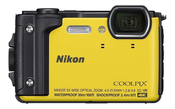 Nikon Coolpix W300 compacta amarelo