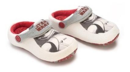Pantufa Kick Chinelo Infantil Star Wars Branco Ricsen