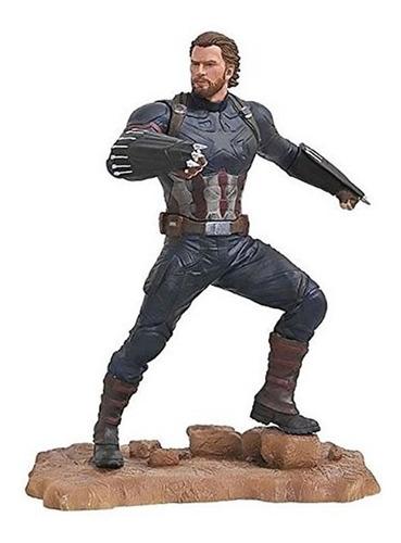Imagem 1 de 3 de Estatueta Capitão América Avengers Diamond Select