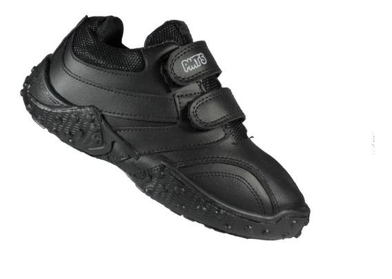 Zapatillas Escolares Plumitas Negras Del 27 Al 35