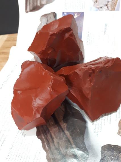 Jaspe Vermelho Bruto Pedra Natural Rocha Qualidade Top 01kg