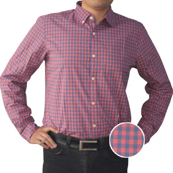 Camisa Hombre Casual Manga Larga Algodón Estampada Gap