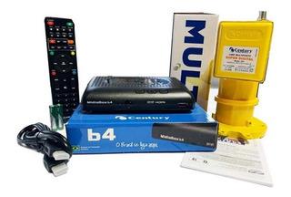 Receptor Digital Midiabox B4 Century Lnbf Multi Com Capa