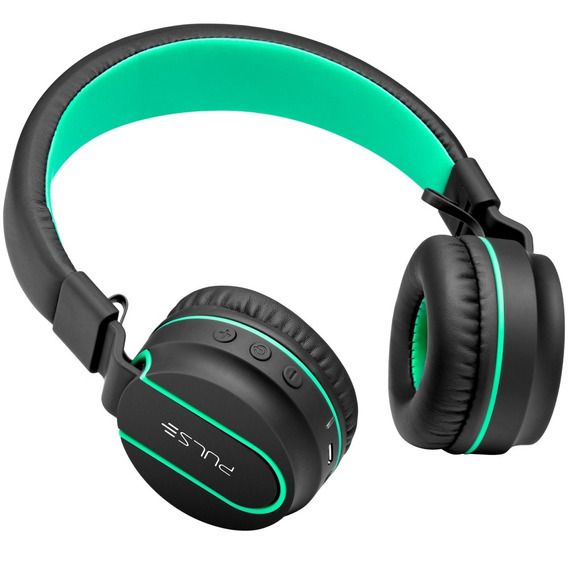 Headphone On Ear Bluetooth P2 Preto E Verde Ph215 Multilaser