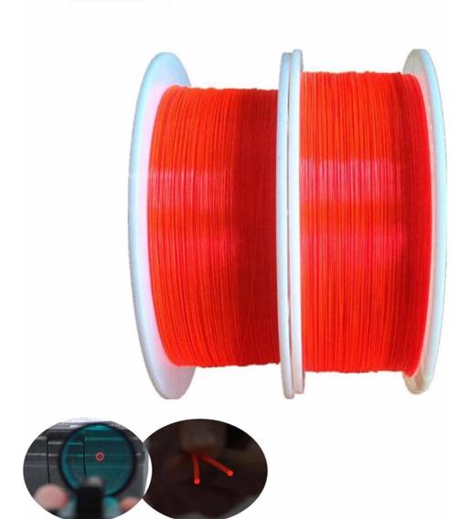 10cm Fibra Óptica Vermelha 1mm Para Alça E Massa De Mira