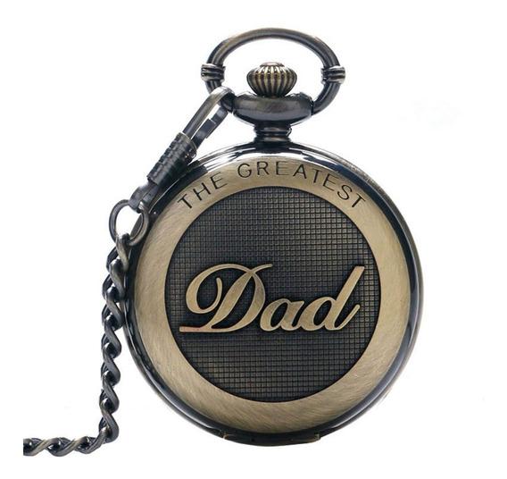 Retro Reloj De Bolsillo Grabado Regalo Día Del Padre