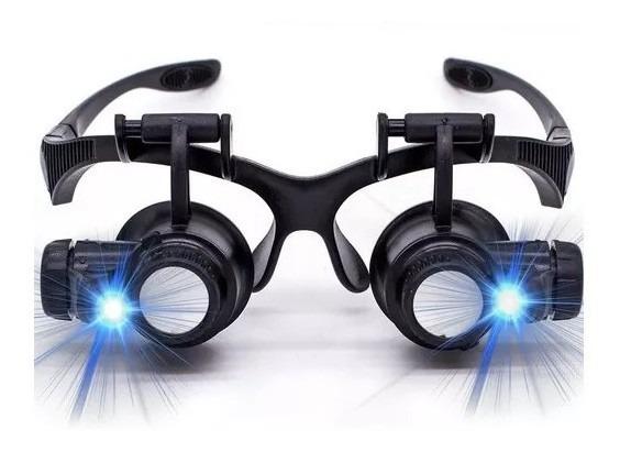 Oculos Lente Aumento Lupa Duplo Aumento Led Precisão