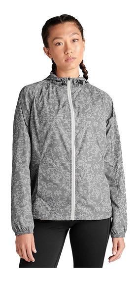 Chamarra Asics Packable Dama Mediana Gris Tactico Reflective
