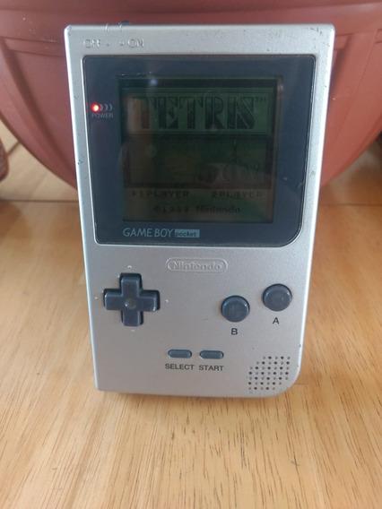 Gameboy Pocket Prata + 2 Jogos - Funcionando 100%