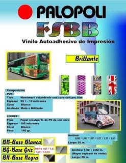 Rollo Vinilo Impresion Digital Blanco Bri.base Gris 1.52x50m