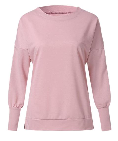 Suéter Encapuçado O -neck Estacionar Solto Sensual Camisol