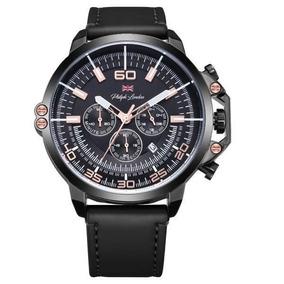 Relógio Masculino Cronógrafo Preto E Rosé Pl80034612m