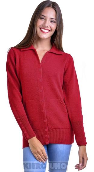 Cárdigan Americano De Lana Sweater Saco C/ Botones Kierouno