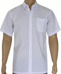 Camisa Social Masculina Manga Curta Direto Da Fábrica Kit5