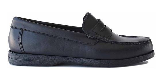 Zapato Mocasin Cuero Hombre Briganti Colegial - Hcmo01167