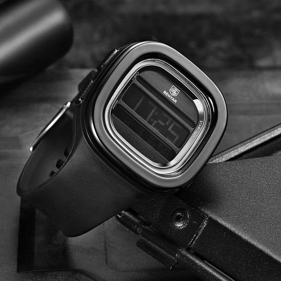 Relógio Benyar 5106 Quadrado Sport Digital P. De Silicone