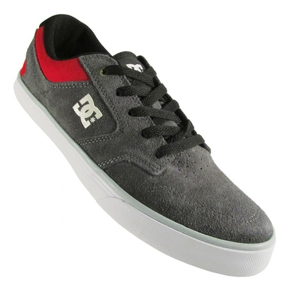 Zapatillas Dc Shoes Modelo Argosy Gris Rojo Ultimos Pares