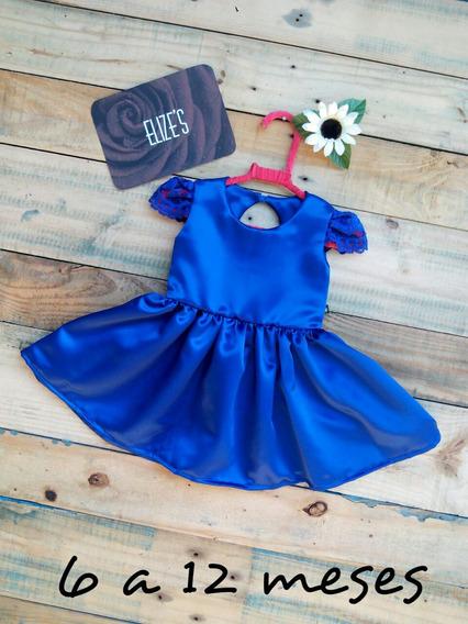 Vestido Infantil Azul Roupa Infantil De Menina