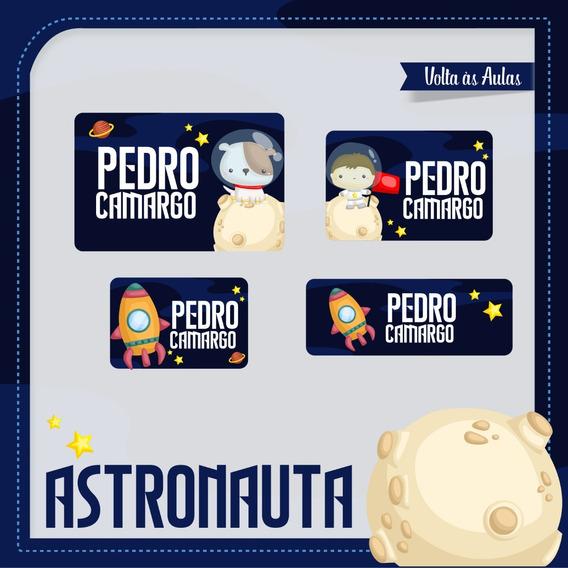 25 Etiquetas Escolares Astronauta