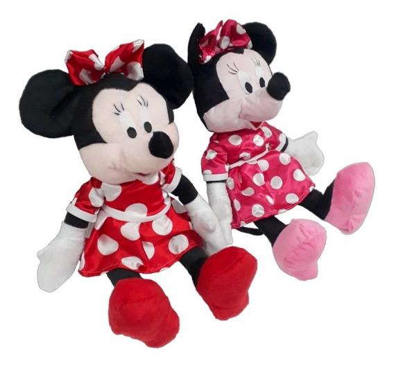 Bonecas De Pelúcia Minnie Mouse Rosa E Vermelha 50 Centimetr