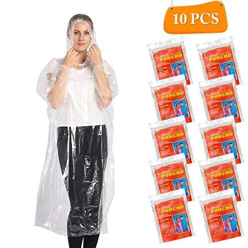 Elebor Ponchos Desechables Impermeables Para Lluvia De Eme