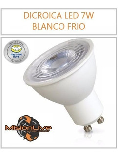 Lampara Dicroica Led Blanco Frio 7w 70w 220v 2 Años Garantia