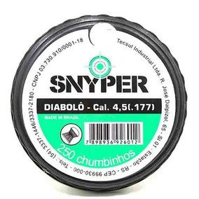 Chumbinho Diabolô Snyper 4,5 Mm 250 Chumbinhos