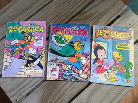 3 Edições Gibi Zé Carioca Anos 1988 E 1993 Colecão