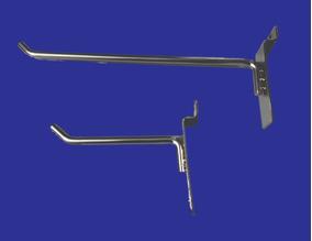 Gancho Blister Cromado Para Panel Ranurado 10cm O 20cm